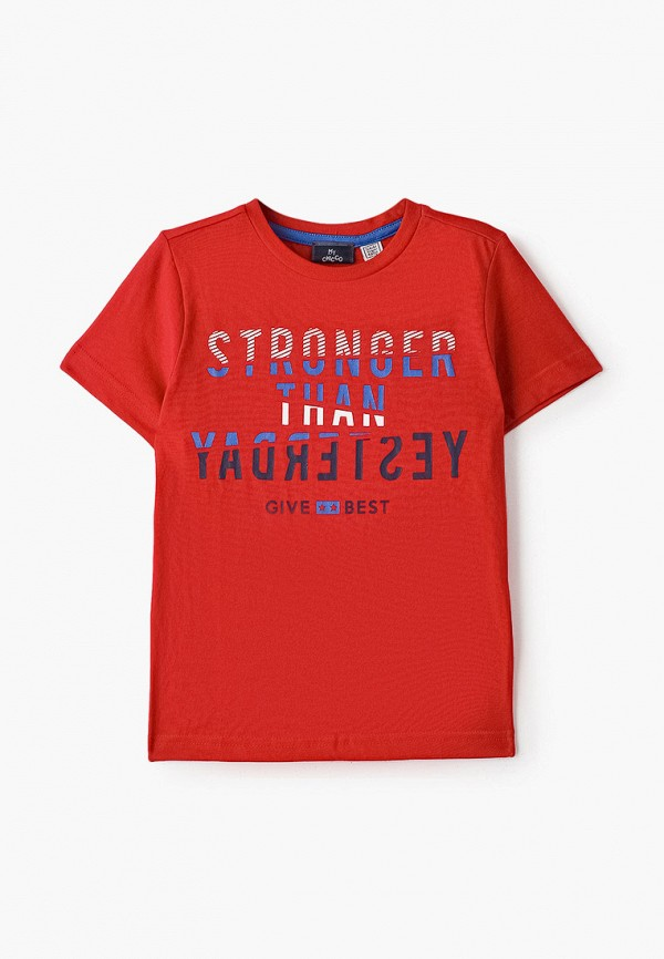 футболка с коротким рукавом chicco для мальчика, красная