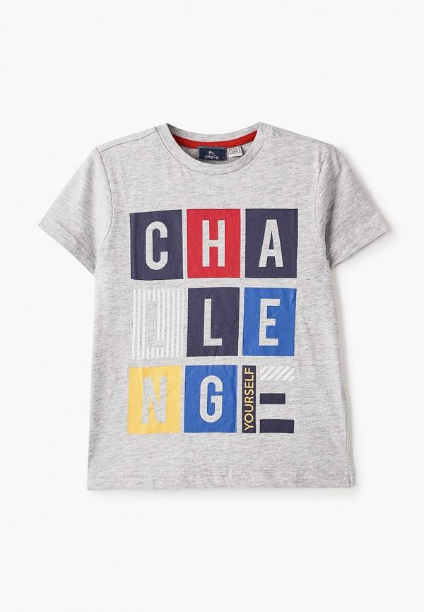 футболка с коротким рукавом chicco для мальчика, серая