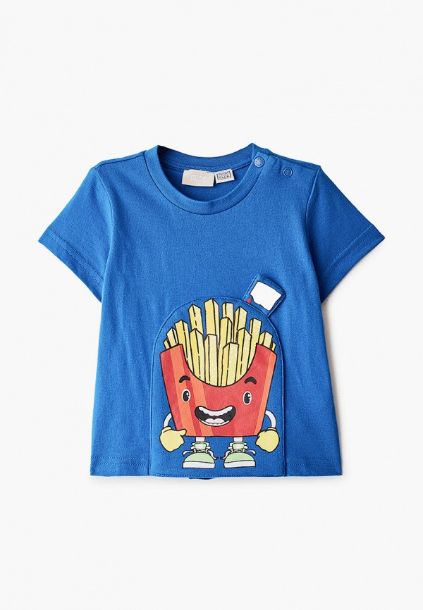 футболка с коротким рукавом chicco для мальчика, синяя