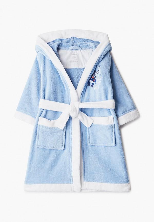 халат chicco для мальчика, голубой