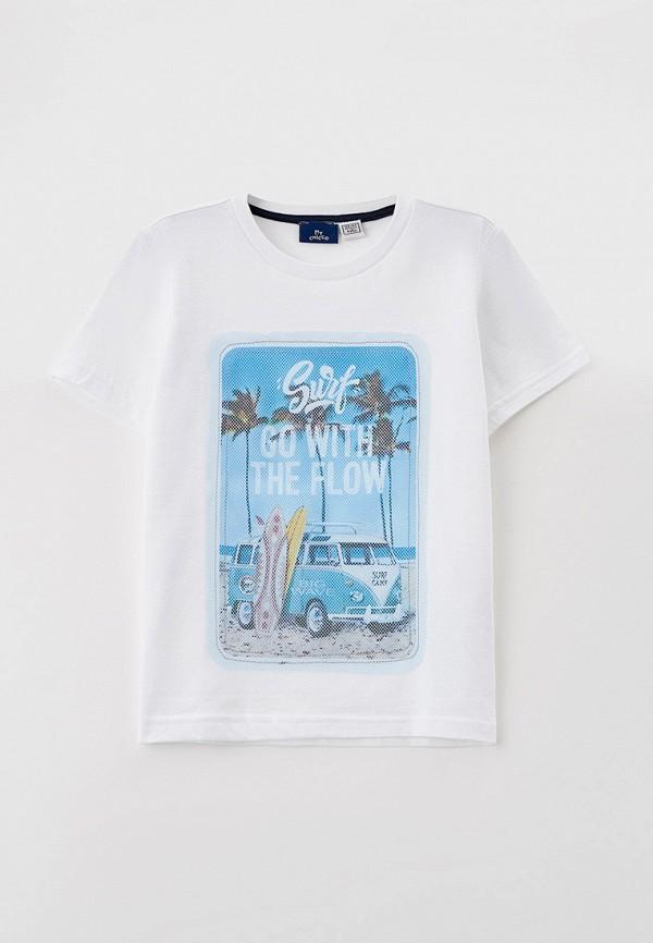 футболка с коротким рукавом chicco для мальчика, белая