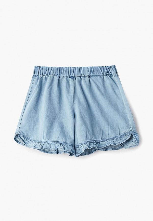 джинсовые шорты chicco для девочки, голубые