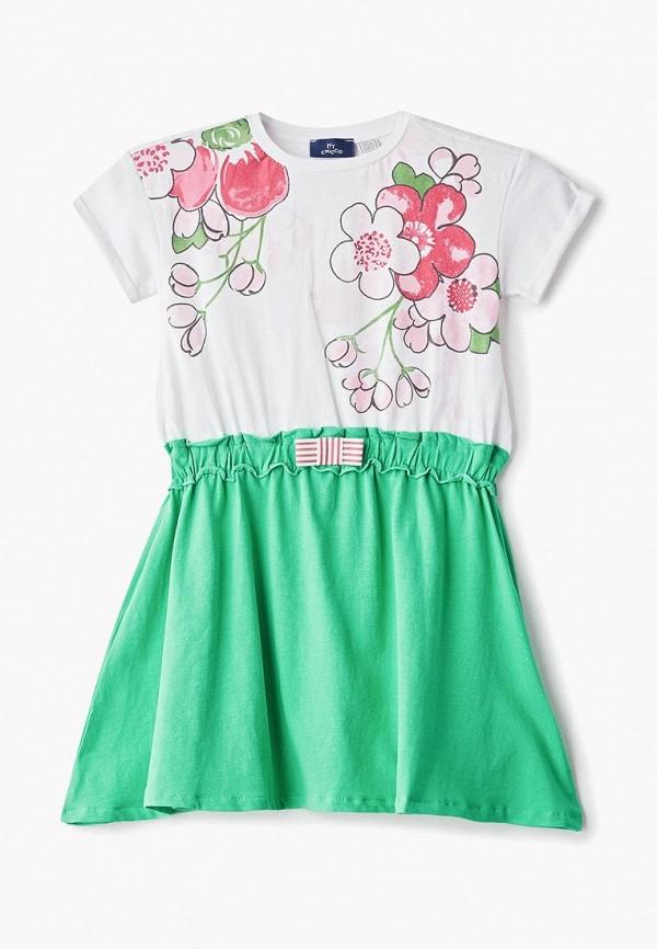 повседневные платье chicco для девочки, разноцветное