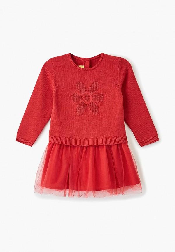 повседневные платье chicco для девочки, красное