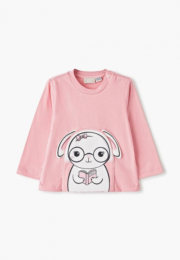 лонгслив chicco для девочки, розовый