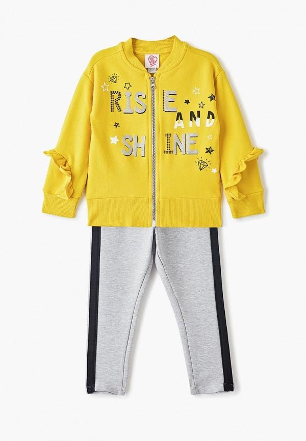 спортивные костюм chicco для девочки, разноцветный