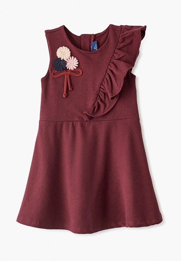 повседневные платье chicco для девочки, бордовое