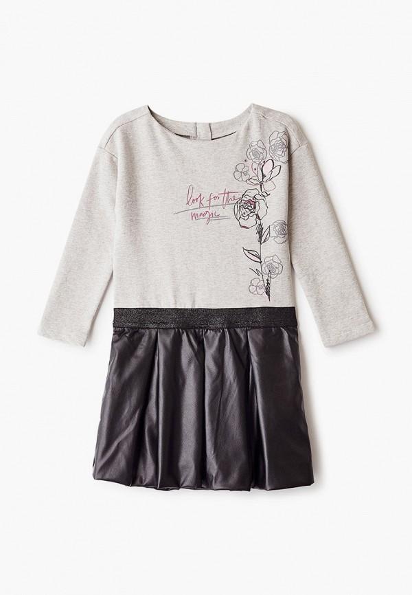 повседневные платье chicco для девочки, серое
