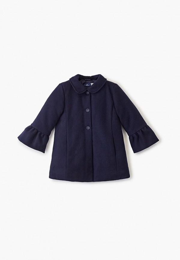 пальто chicco для девочки, синее