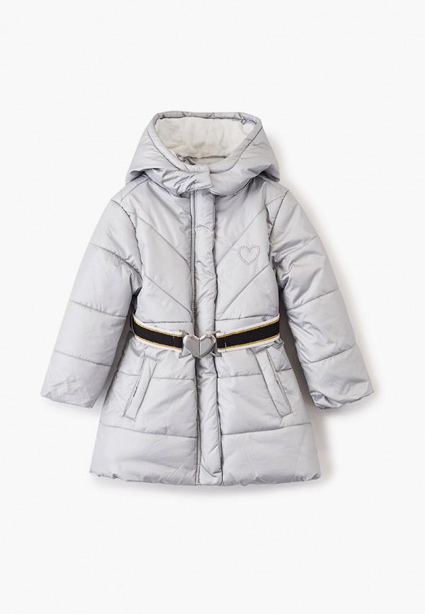 куртка chicco для девочки, серебряная