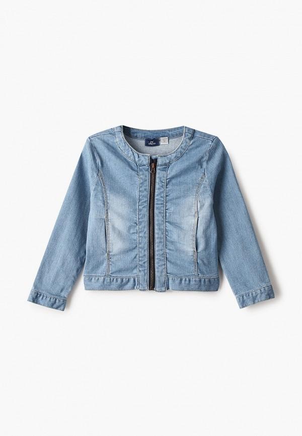 джинсовые куртка chicco для девочки, голубая