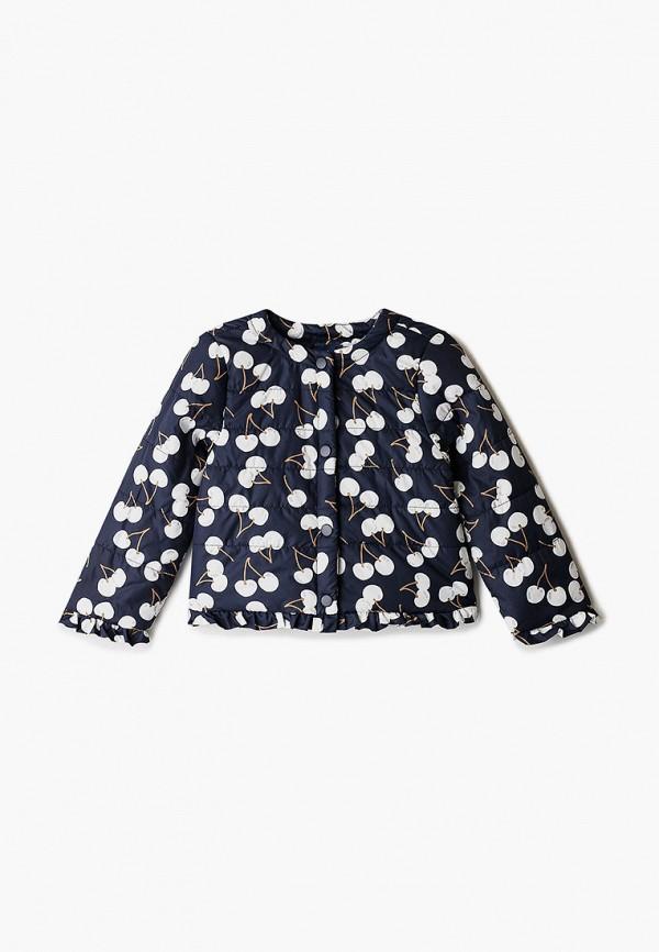 легкие куртка chicco для девочки, синяя