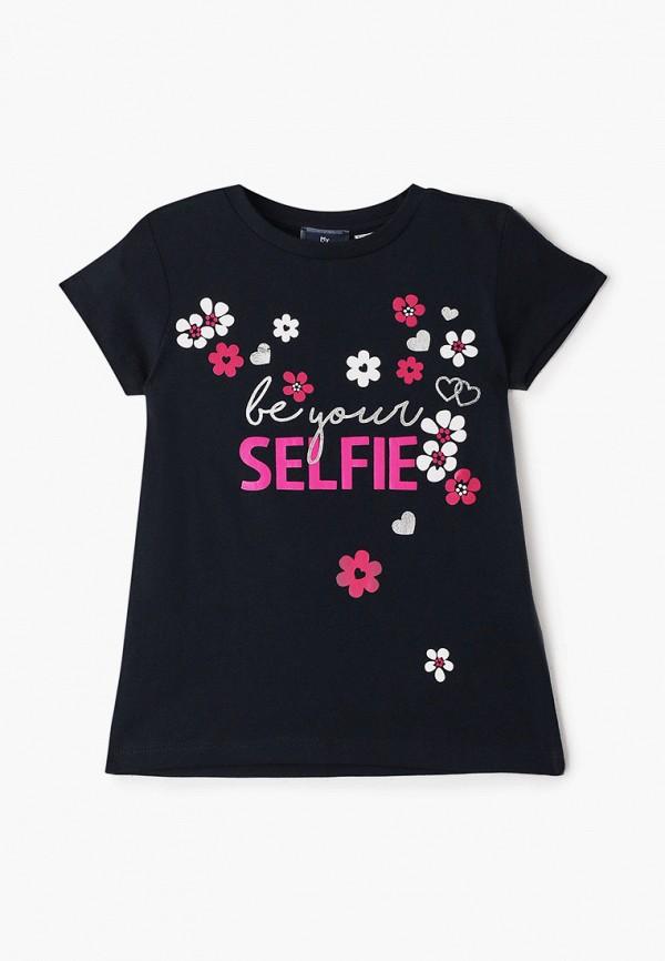 футболка с коротким рукавом chicco для девочки, синяя