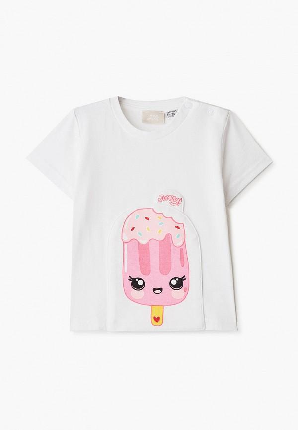 футболка с коротким рукавом chicco для девочки, белая