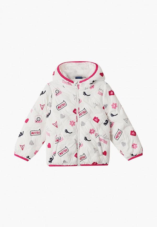 утепленные куртка chicco для девочки, белая
