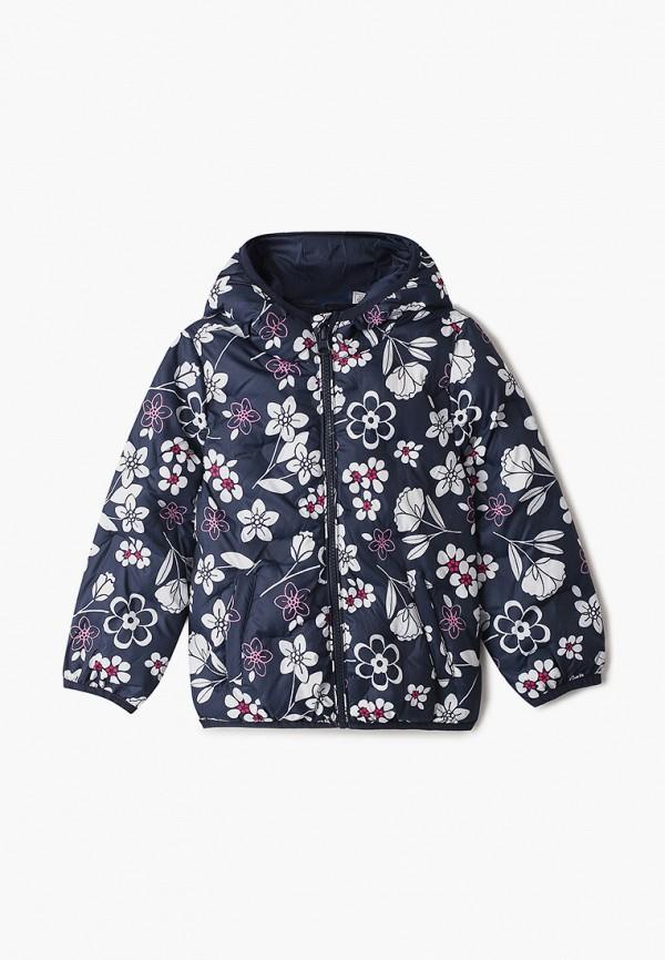 утепленные куртка chicco для девочки, синяя