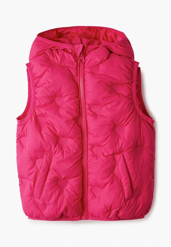 утепленные жилет chicco для девочки, розовый