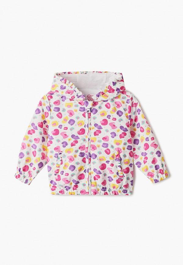 куртка chicco для девочки, разноцветная