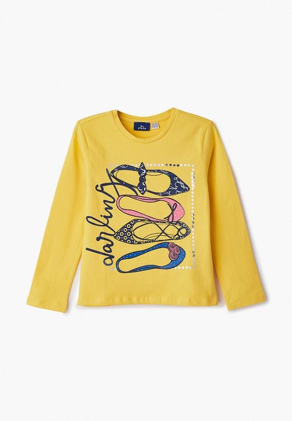 лонгслив chicco для девочки, желтый