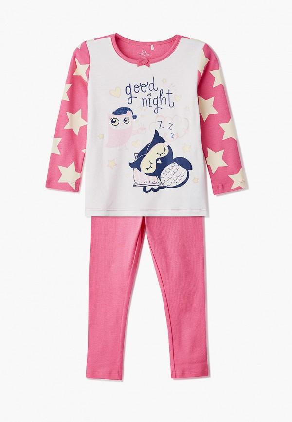 пижама chicco для девочки, розовая