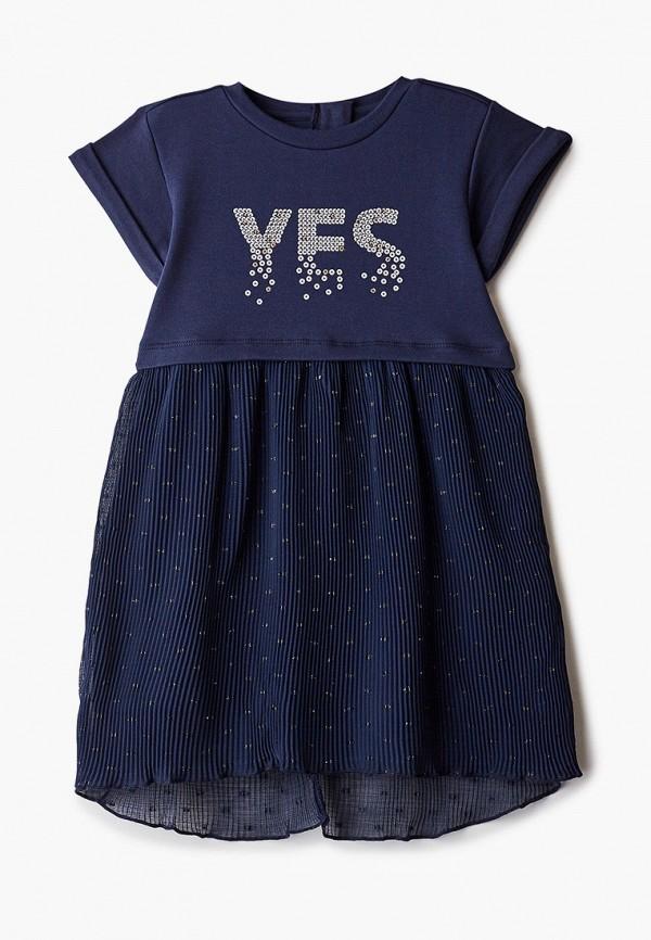 повседневные платье chicco для девочки, синее