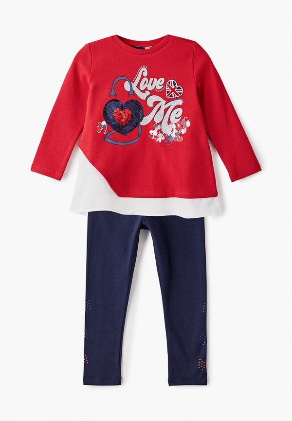спортивный костюм chicco для девочки, разноцветный