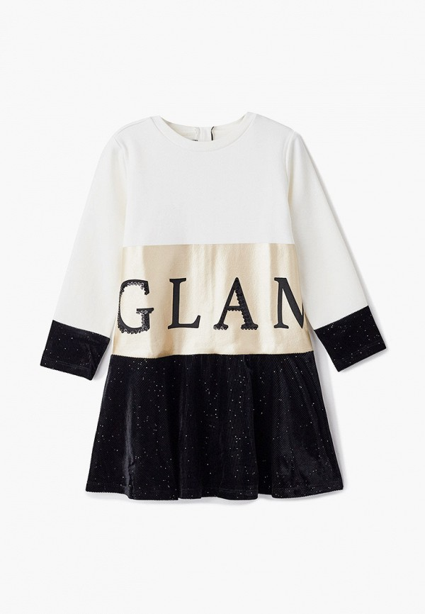 повседневные платье chicco для девочки, белое