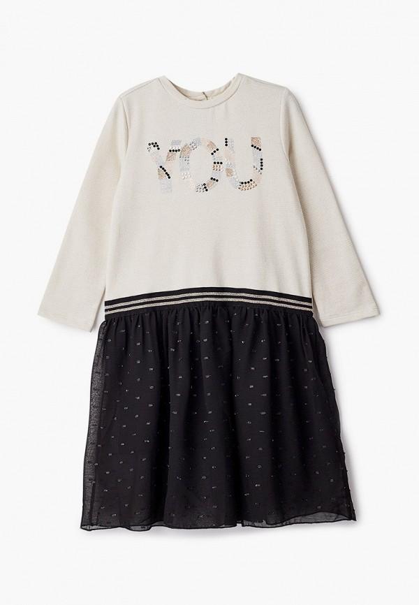 платье chicco для девочки, бежевое