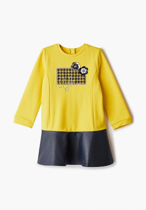 повседневные платье chicco для девочки, желтое