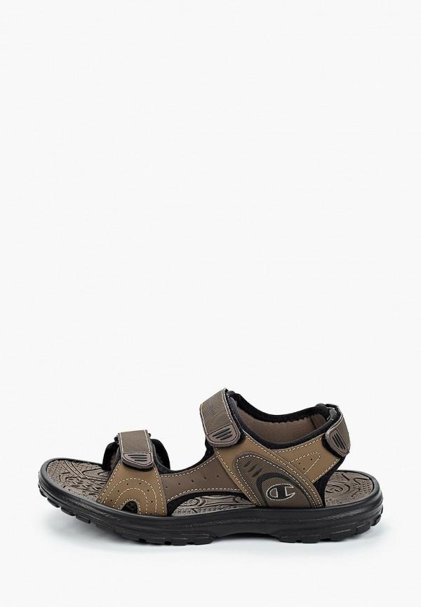 мужские сандалии champion, коричневые