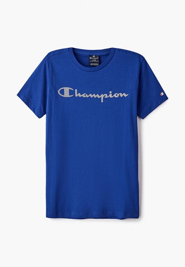 футболка с коротким рукавом champion для мальчика, синяя