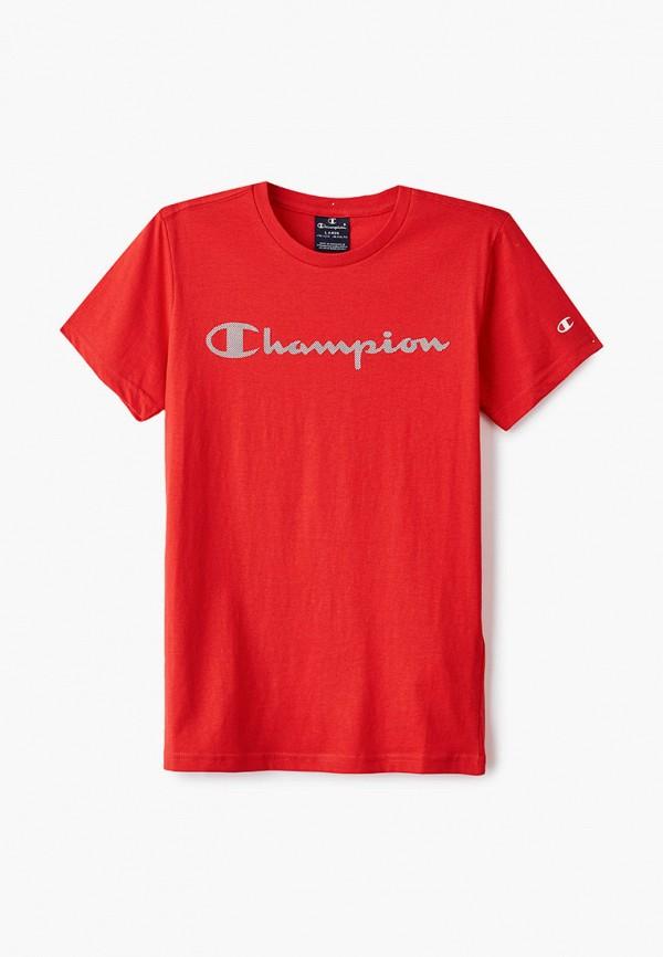 футболка champion для мальчика, красная
