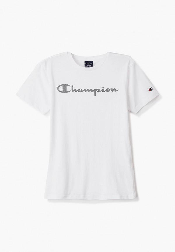футболка champion для мальчика, белая