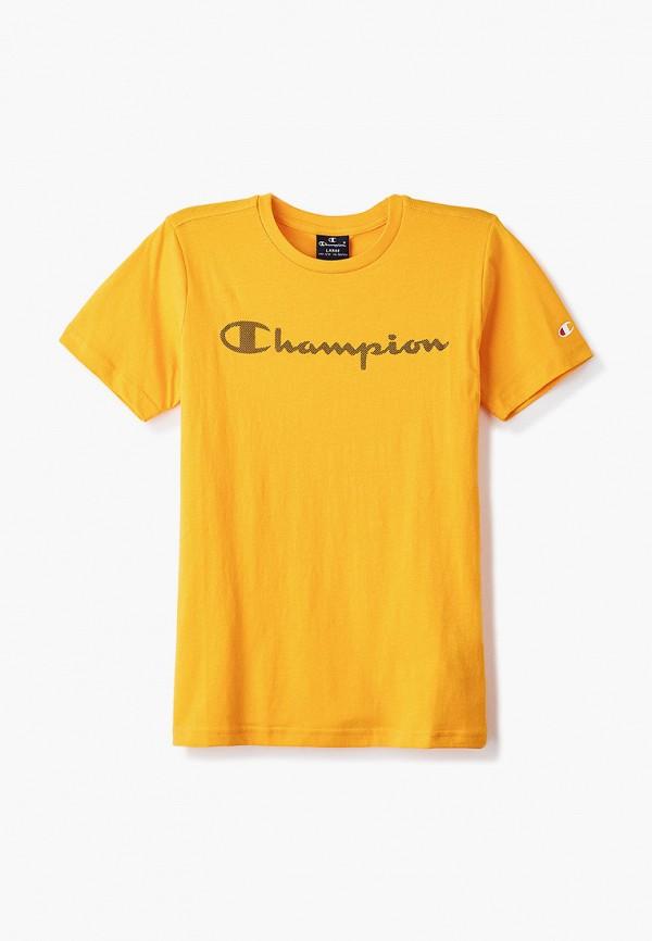 футболка champion для мальчика, желтая