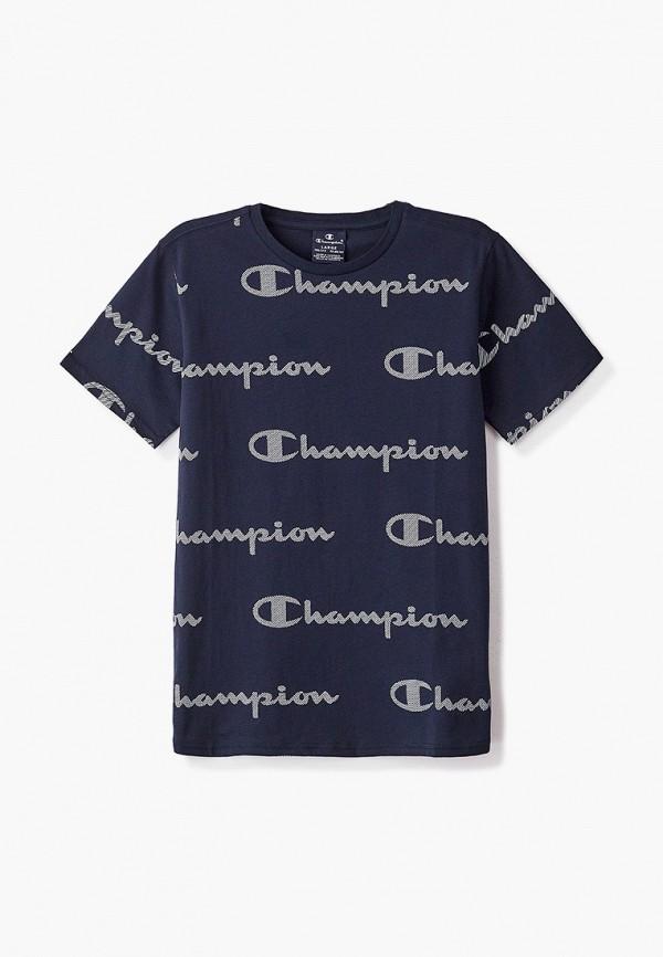 футболка champion для мальчика, синяя