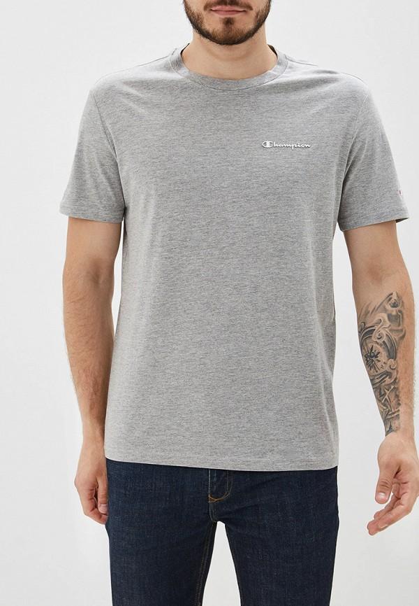 Купить мужскую футболку Champion серого цвета