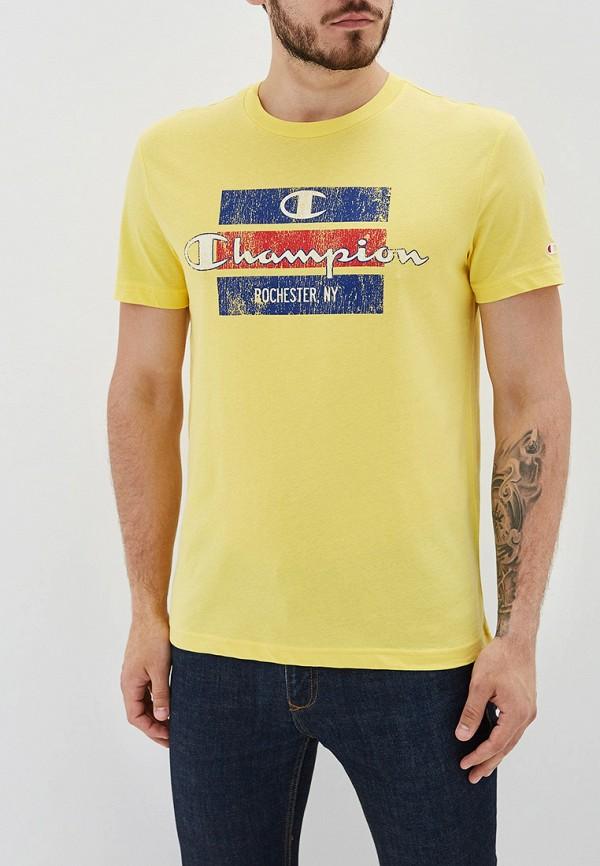 мужская футболка champion, желтая