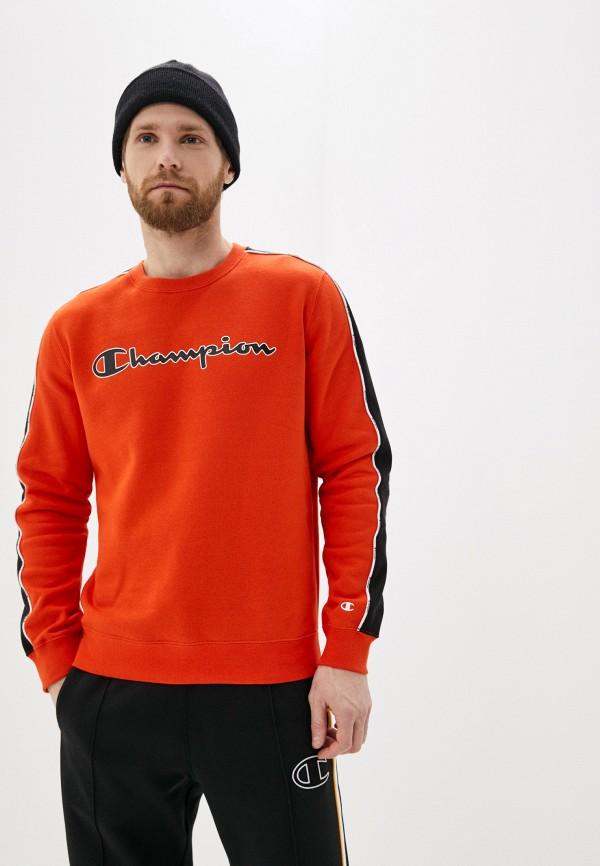 мужской свитшот champion, оранжевый