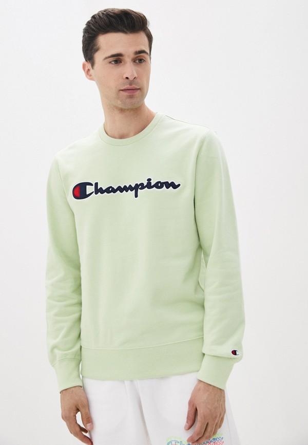 мужской свитшот champion, зеленый