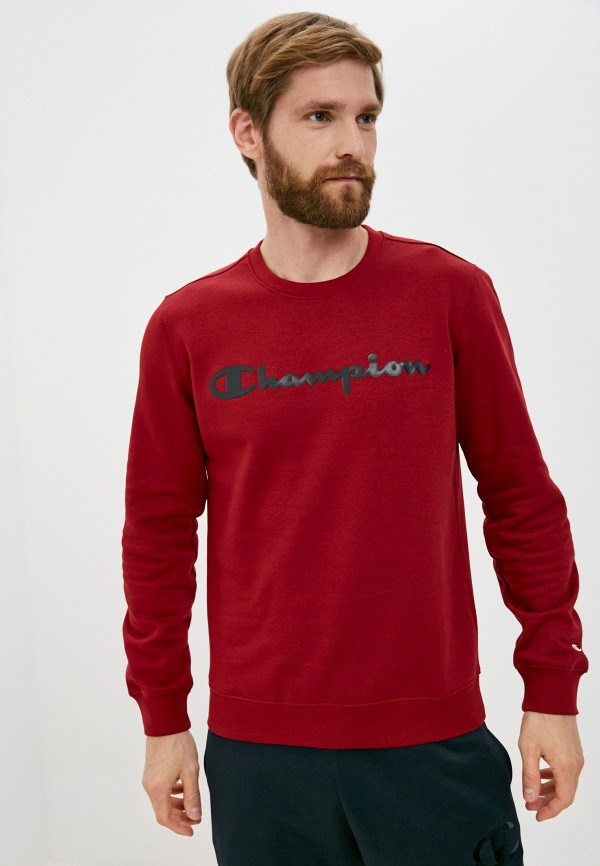 мужской спортивные свитшот champion, бордовый