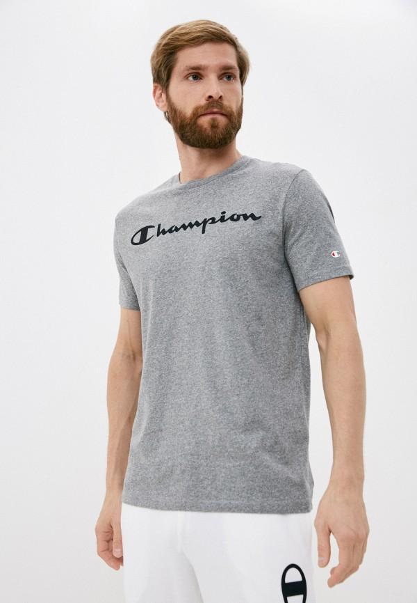 мужская спортивные футболка champion, серая