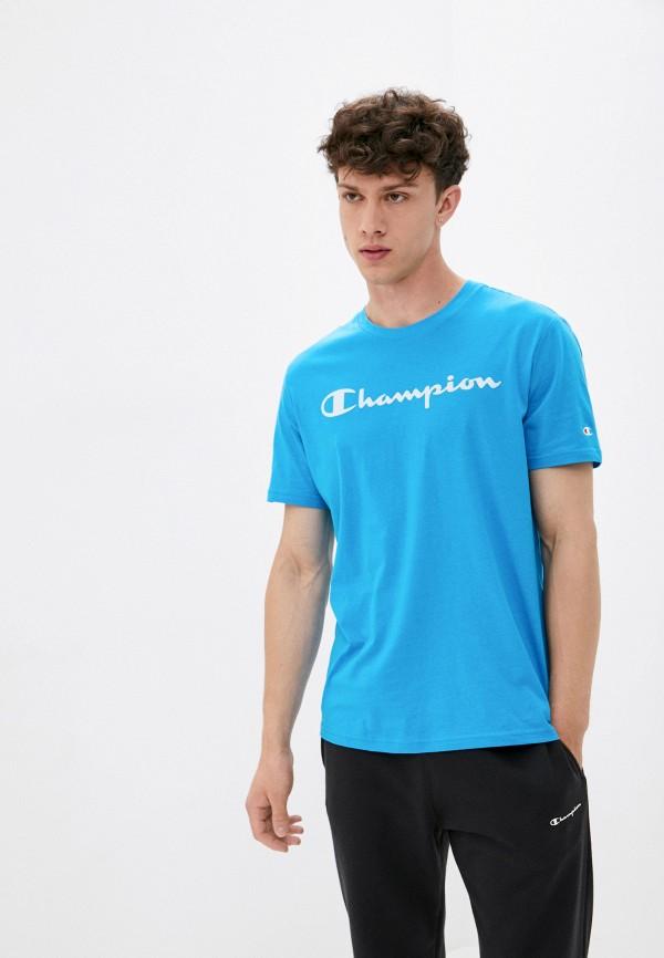мужская спортивные футболка champion, голубая