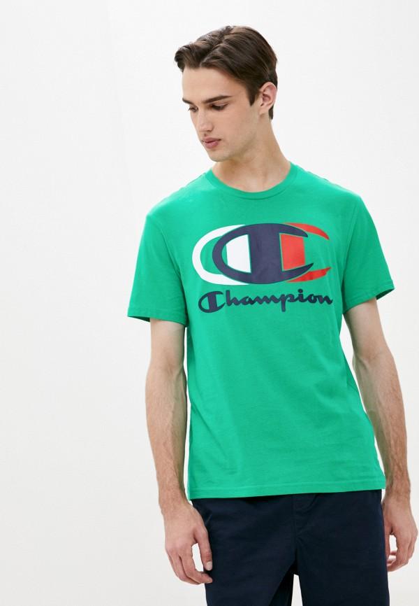 мужская спортивные футболка champion, зеленая