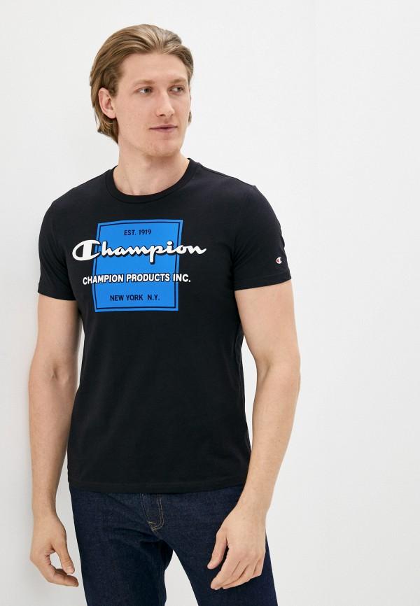 мужская спортивные футболка champion, черная