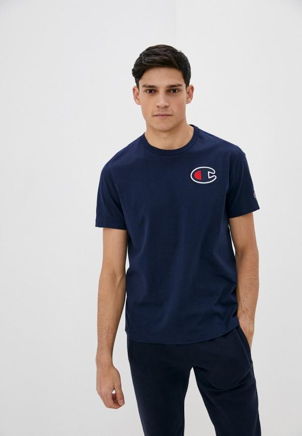 мужская спортивные футболка champion, синяя