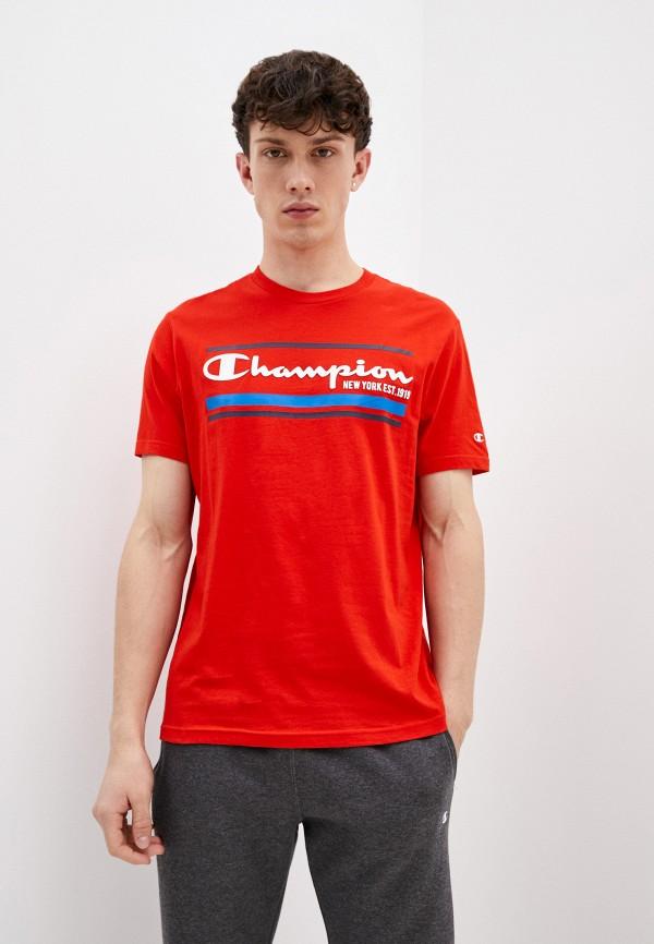 мужская спортивные футболка champion, красная