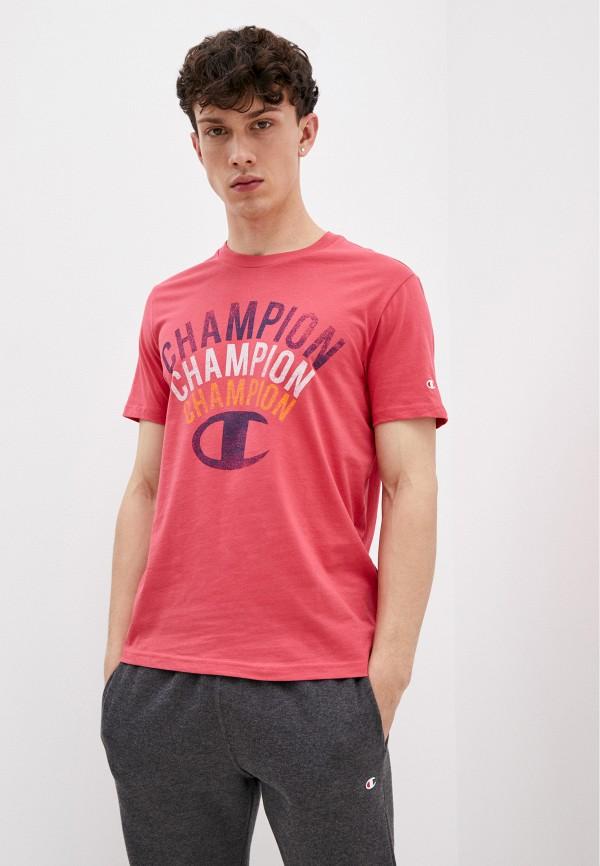 мужская спортивные футболка champion, розовая