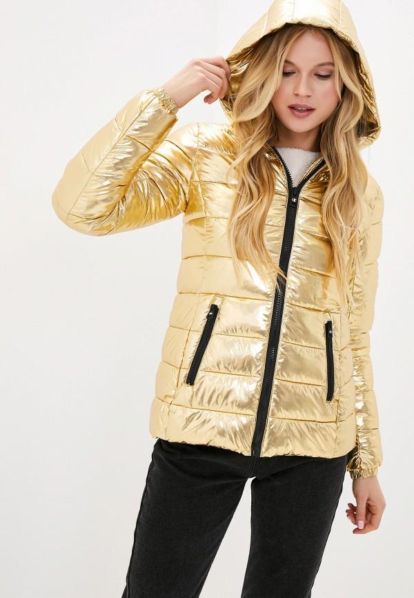 женская куртка champion, золотая