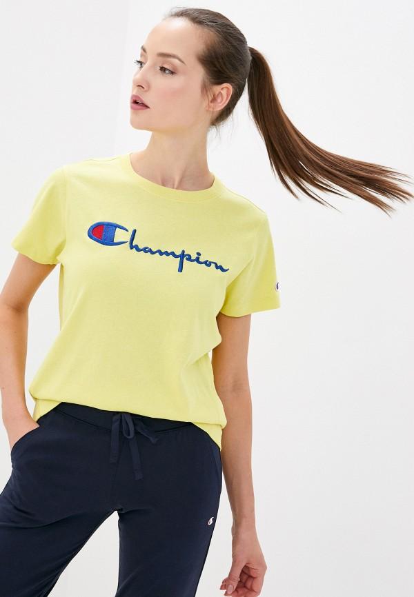 женская спортивные футболка champion, желтая