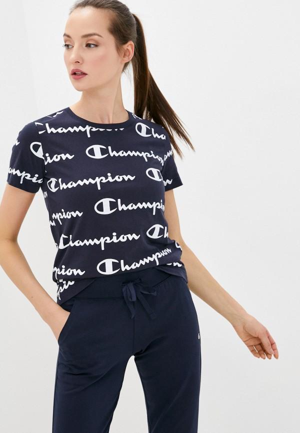 женская спортивные футболка champion, синяя